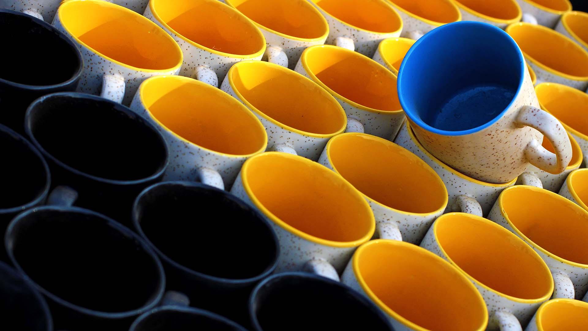 Pile of mugs