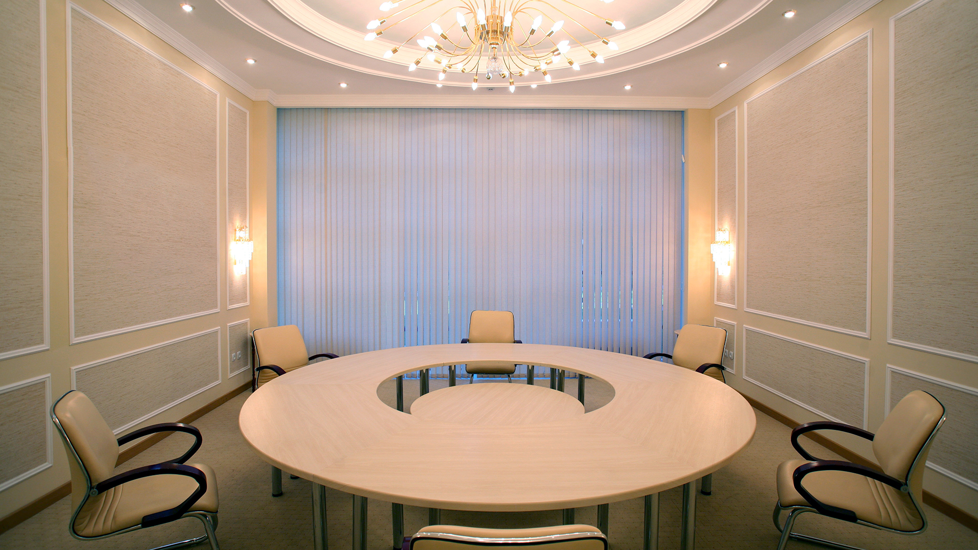 A cosy meeting room